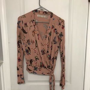A&F butterfly long sleeve shirt